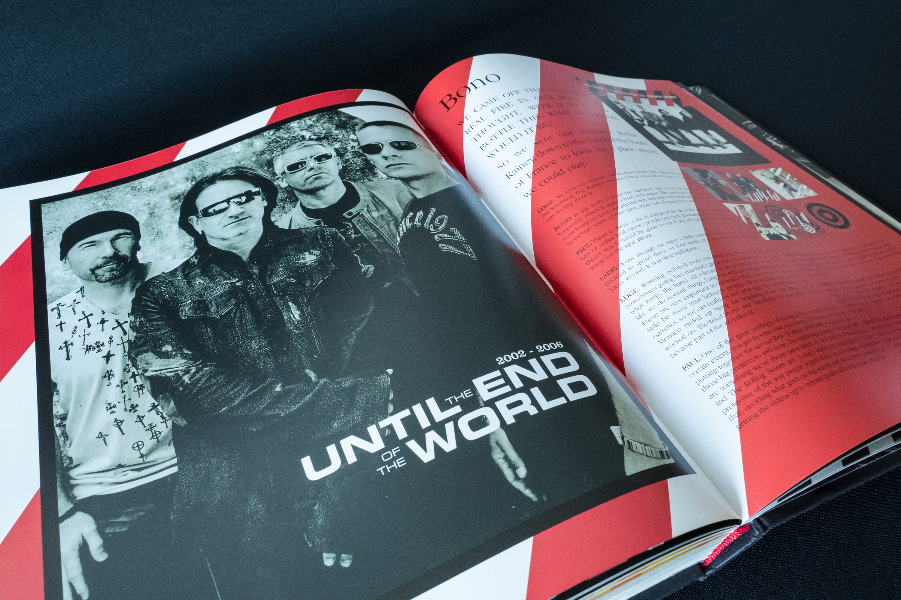 U2 by U2 Book Spread Graphic Design London Dublin 03