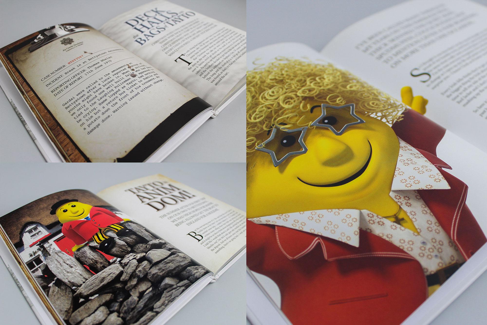 Tayto - The Man Inside The Jacket Book graphic design Dublin Freelance
