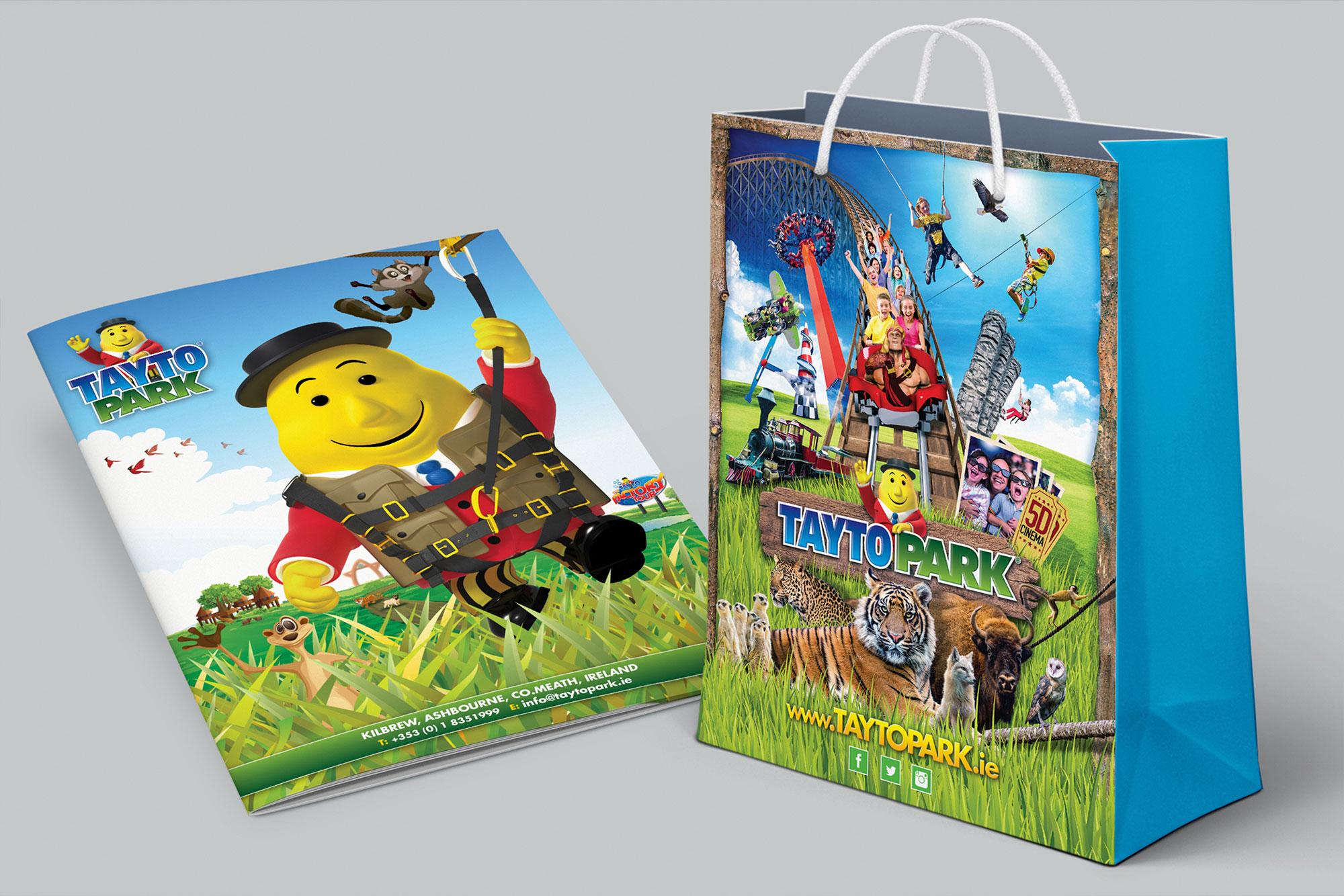 Mr. Tayto Park bag branding graphic design Freelance Dublin