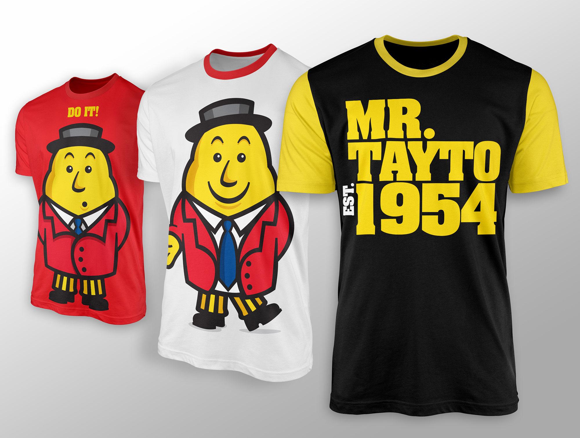 Mr. Tayto t shirts merchandise graphic design freelance Dublin