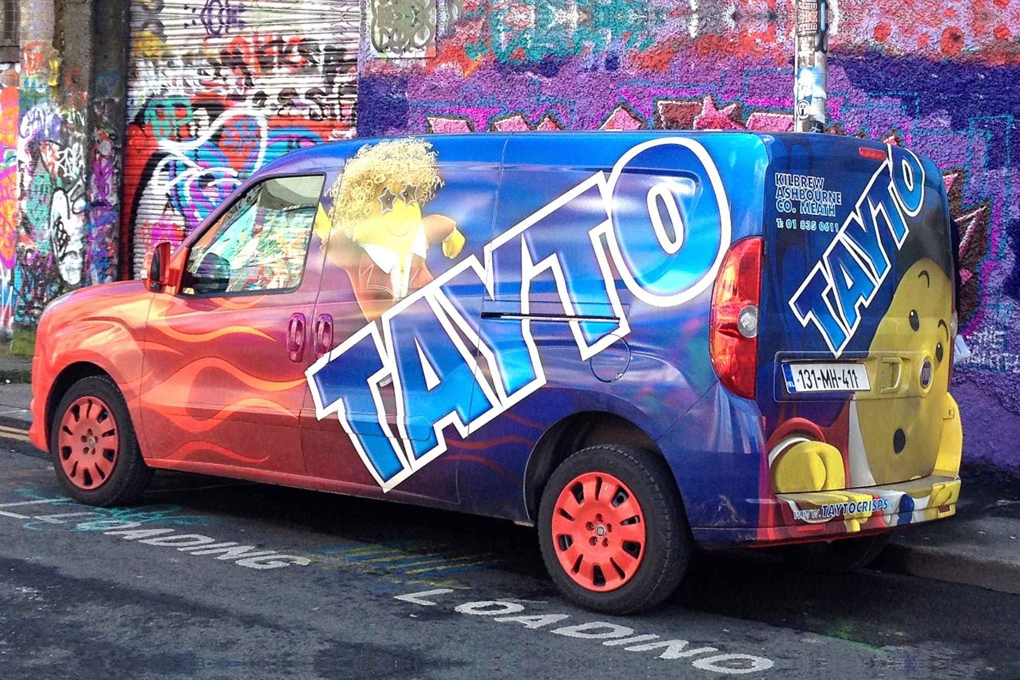Mr. Tayto pimped van wrap decal graphic design freelance Dublin