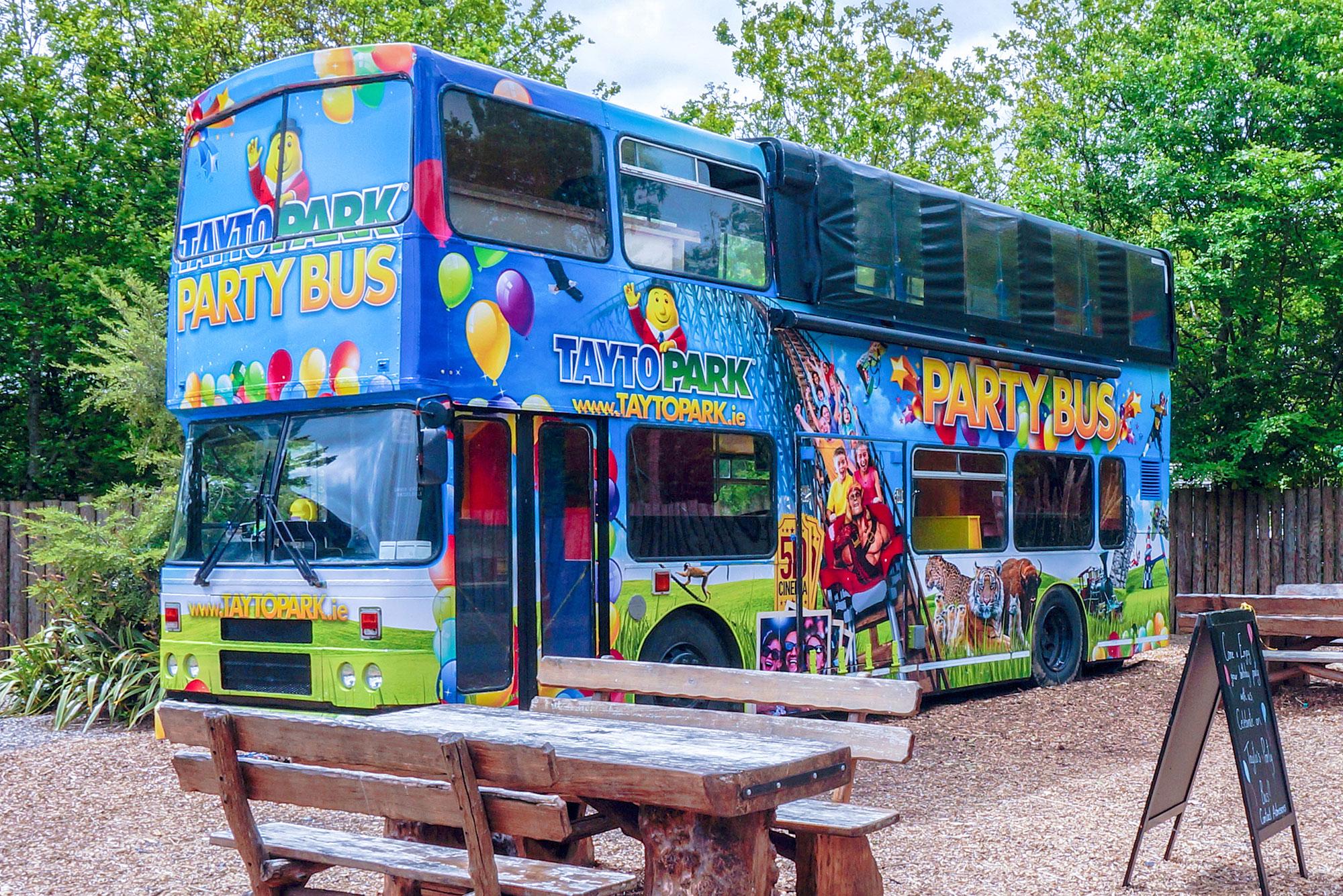 Tayto Park bus vehicle wrap decal graphic design freelance Dublin