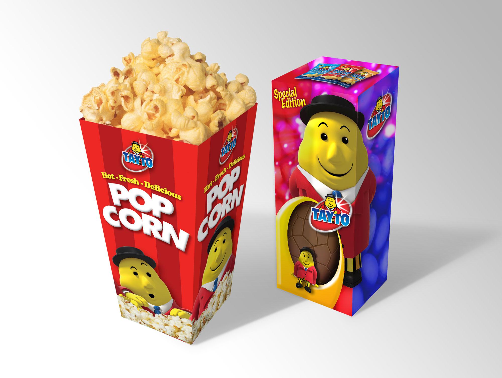 Tayto popcorn easter egg graphic design freelance Dublin