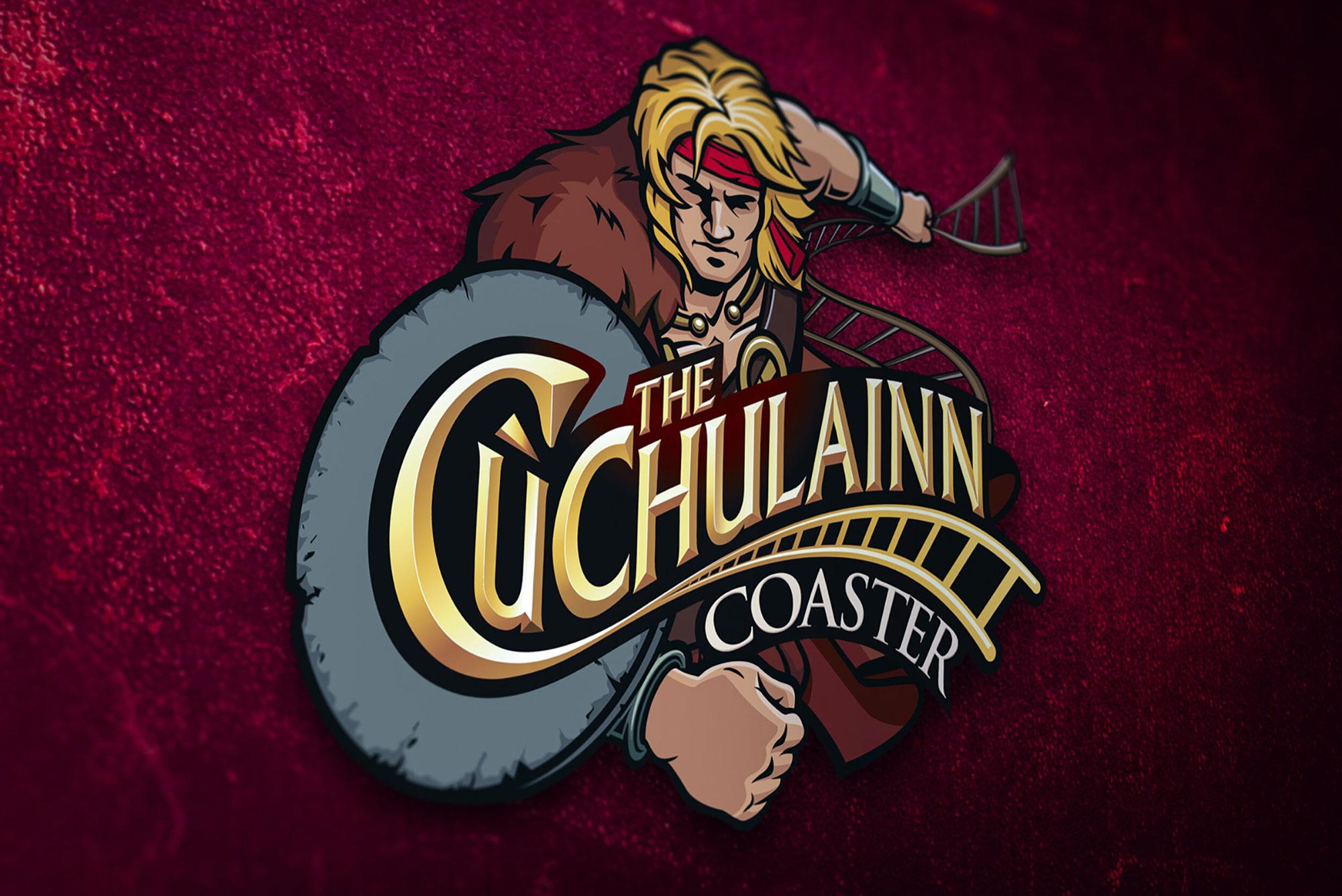 Tayto Cu Chulainn Roller Coaster Logo Graphic Design Freelance Dublin Theme Park
