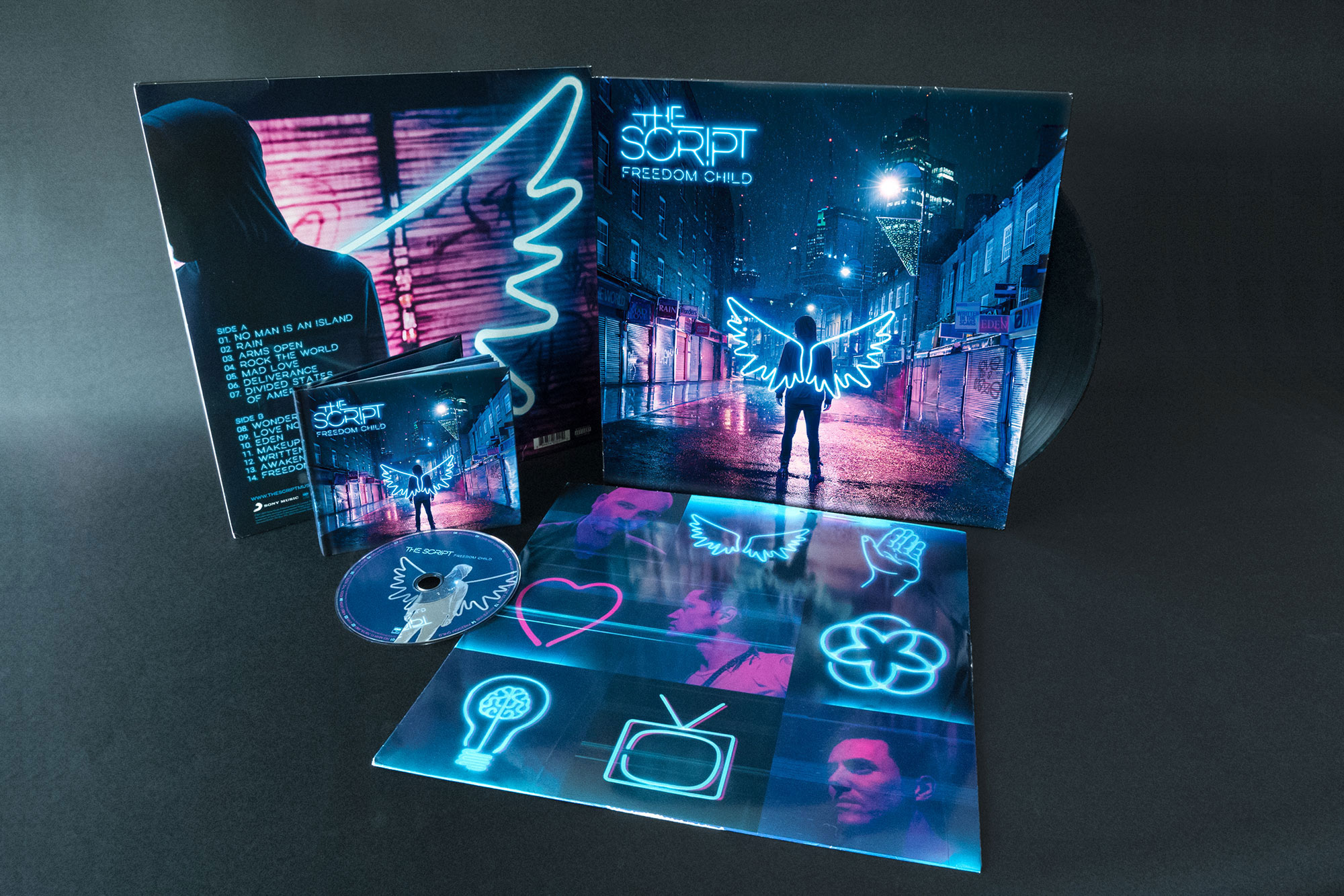 The Script Freedom Child Album Cover Design Vinyl Dublin London