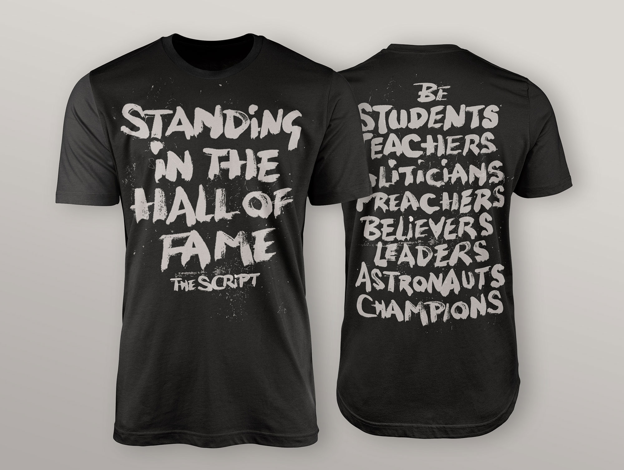 The Script T Shirt Design Dublin London 02