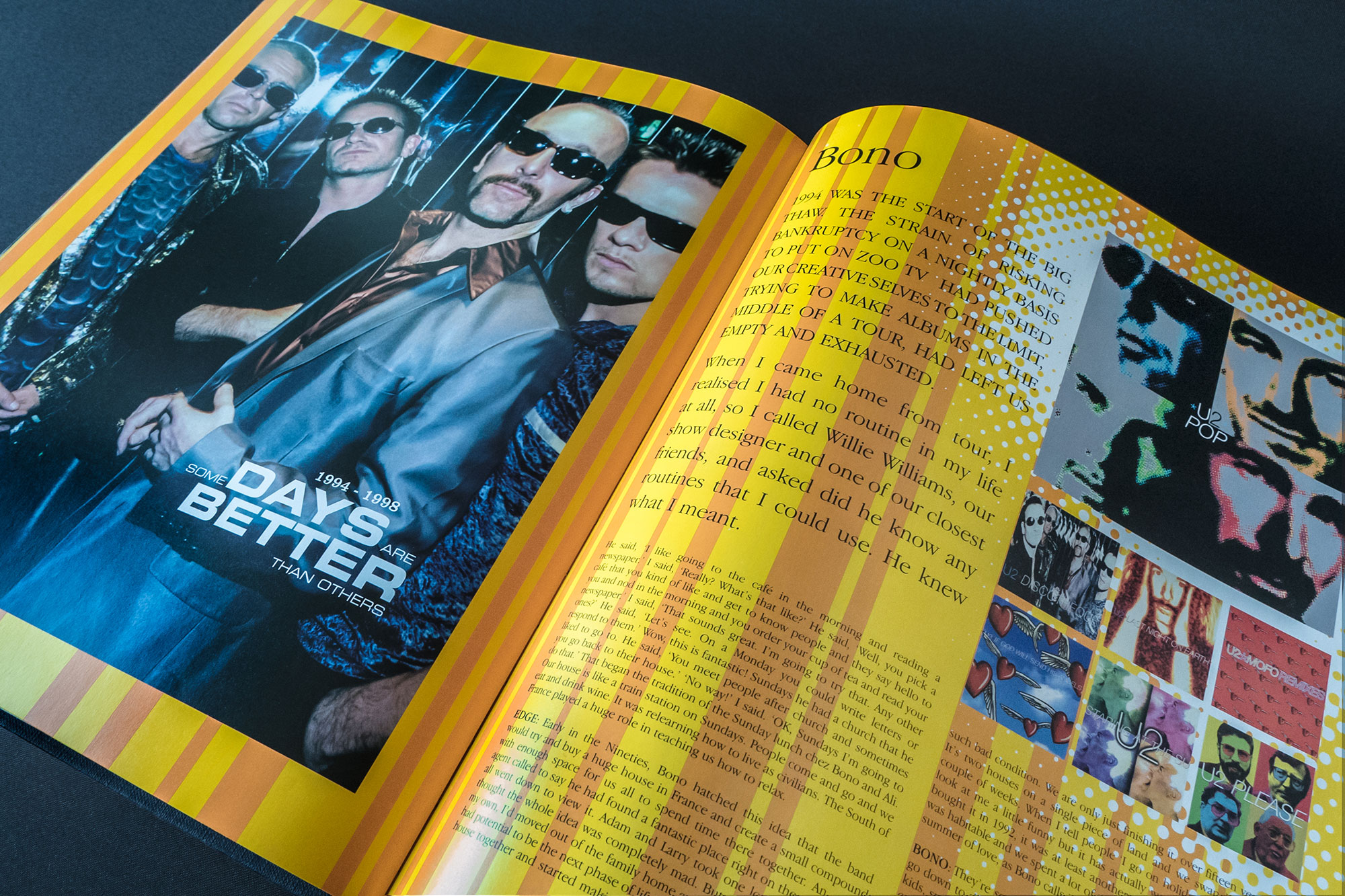 U2 by U2 Book Spread Graphic Design London Dublin 01