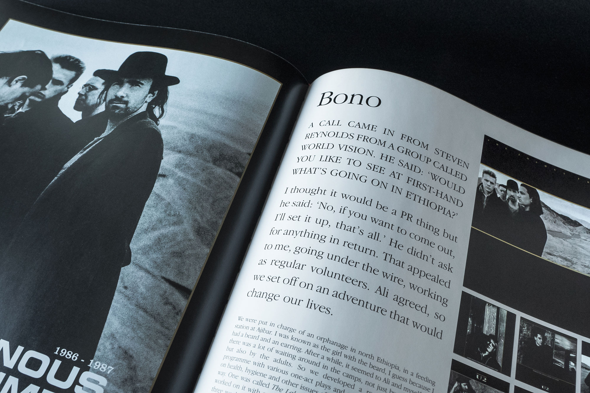 U2 by U2 Book Spread Graphic Design London Dublin The Joshua Tree