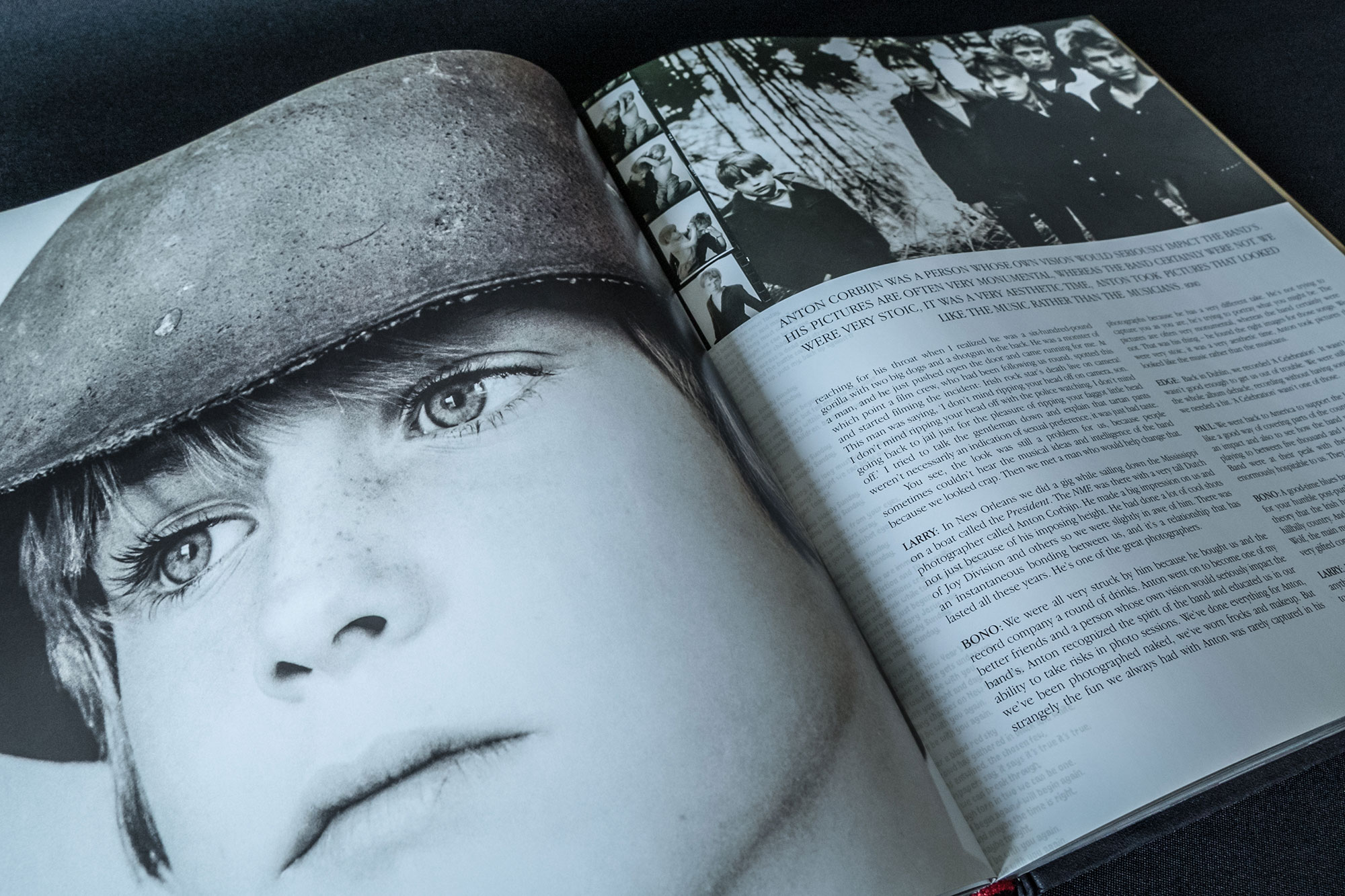 U2 by U2 Book Spread Graphic Design London Dublin War