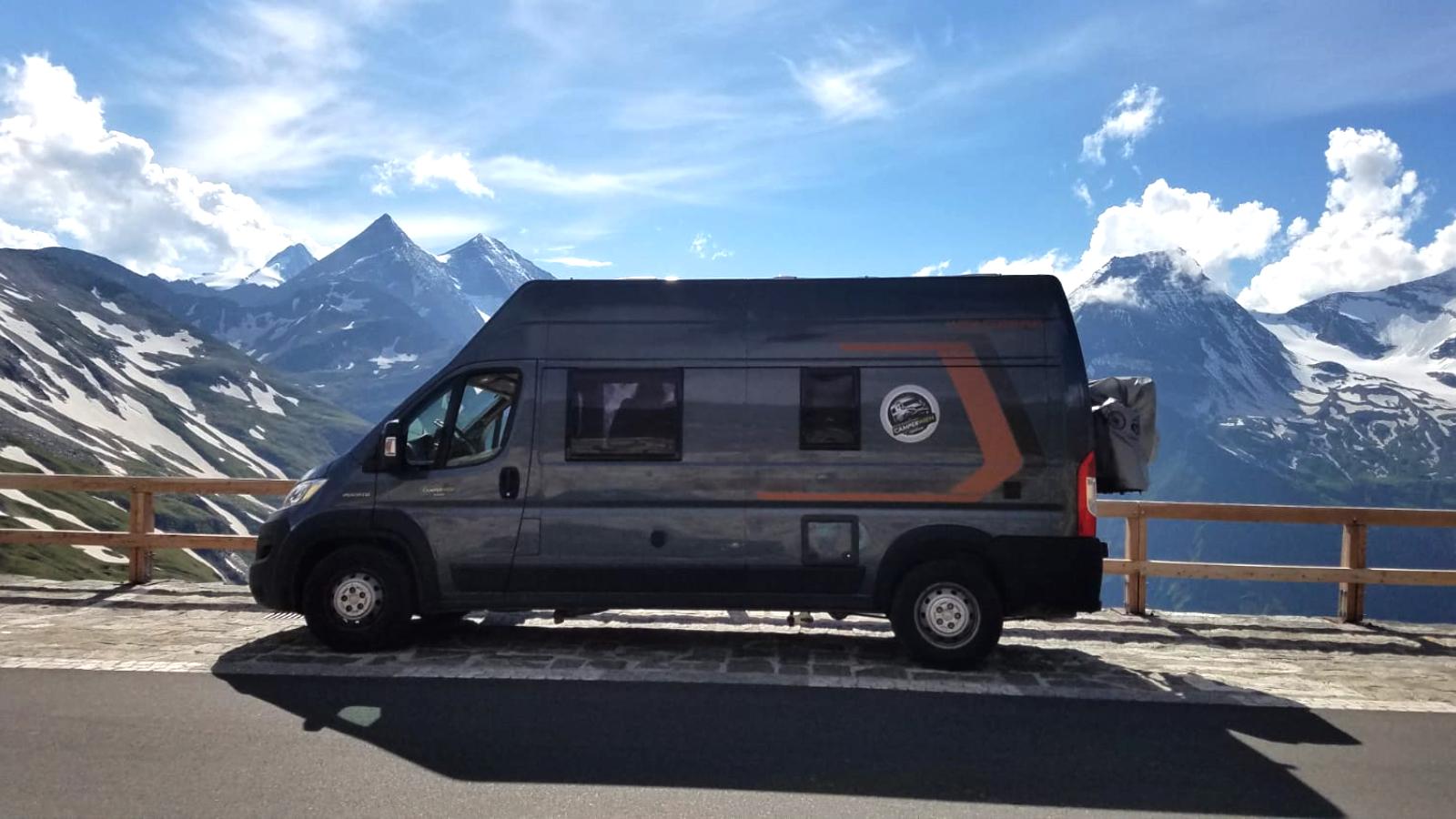 Weinsberg Camper 600DQ in den Alpen