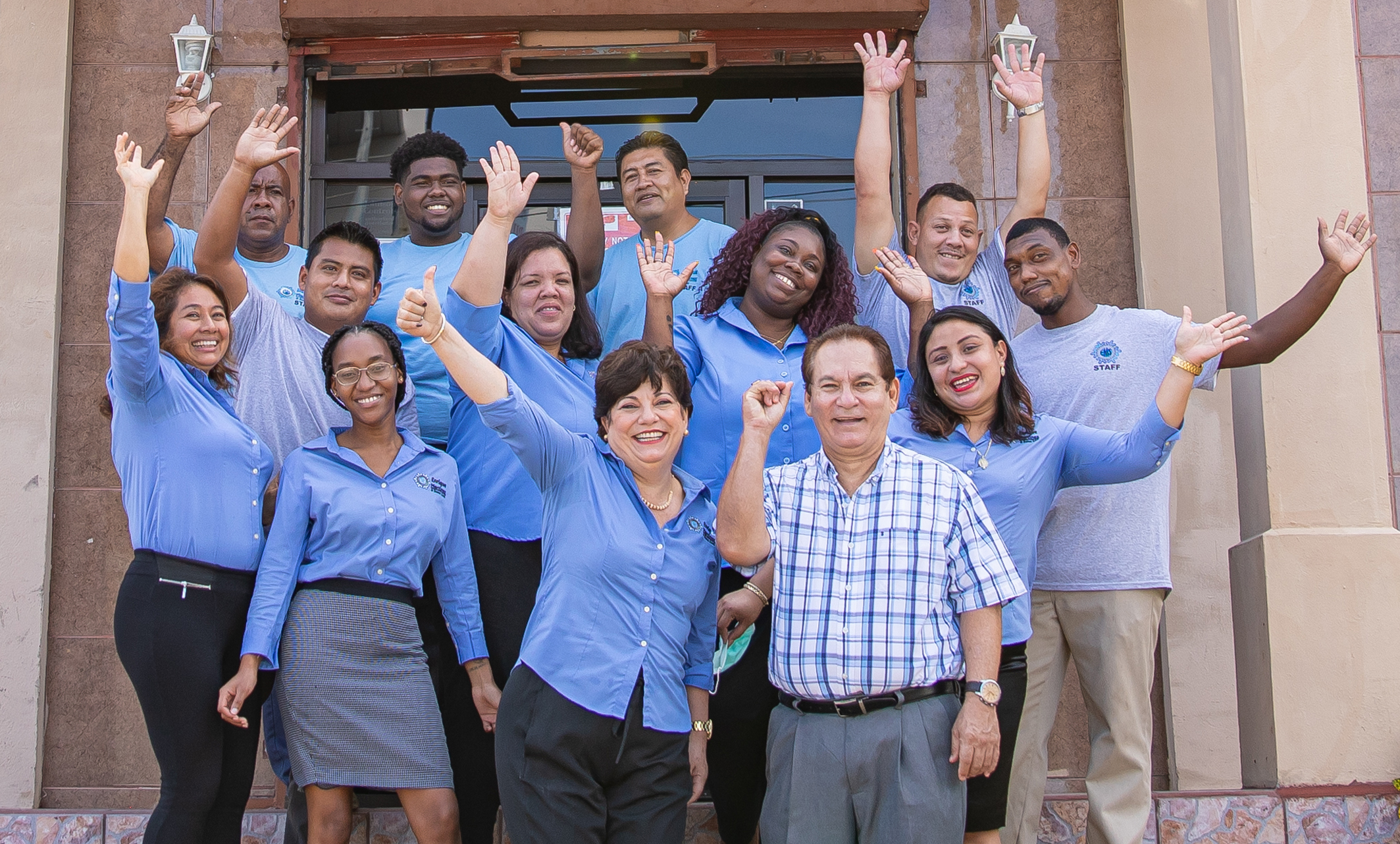photo of team at enrique martinez and sons in Belize city