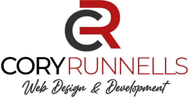 A logo for Cory Runnells, Web Design and Development
