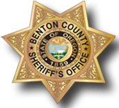The badge of the Benton County Sheriff's Office.