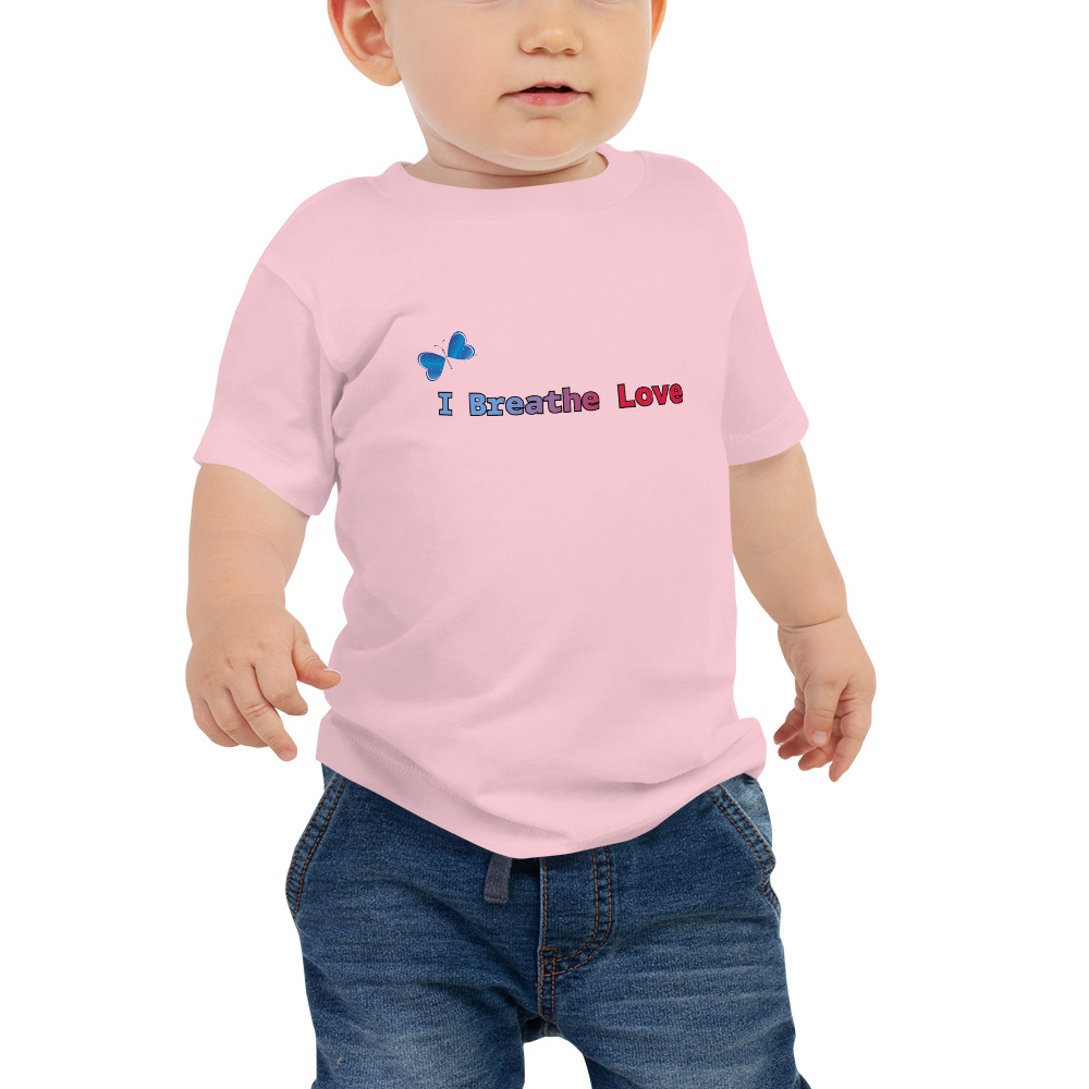 It's never too early to look great! So get your baby this short sleeve I Breathe Love tee that's not only stylish, but also comfy, durable, and easy to clean. It's a classic that's bound to become the most loved item in your baby's wardrobe.   Features: • 100% cotton* • Pre-shrunk fabric • Relaxed fit for extra comfort  *Heather color is 52% Airlume combed and ring-spun cotton 48% poly