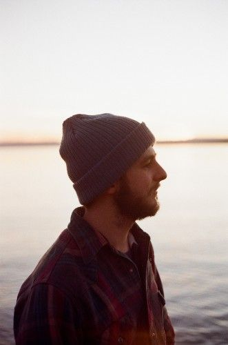 Profile of a man with a beanie