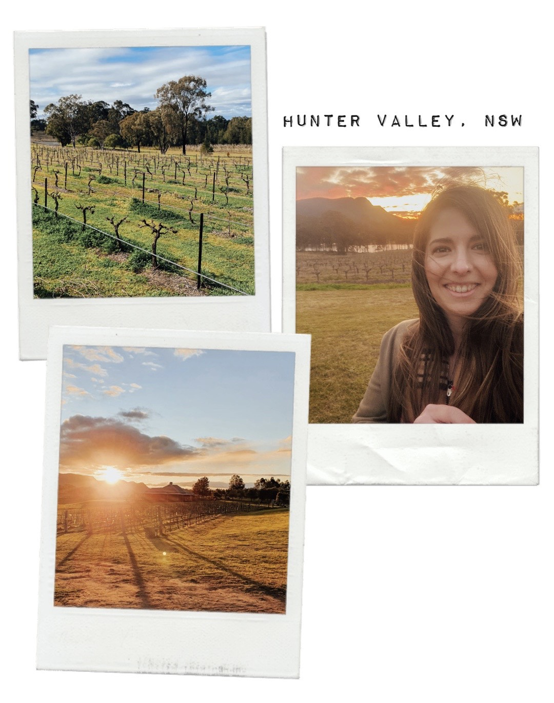 Vineyard photos of me in the Hunter Valley