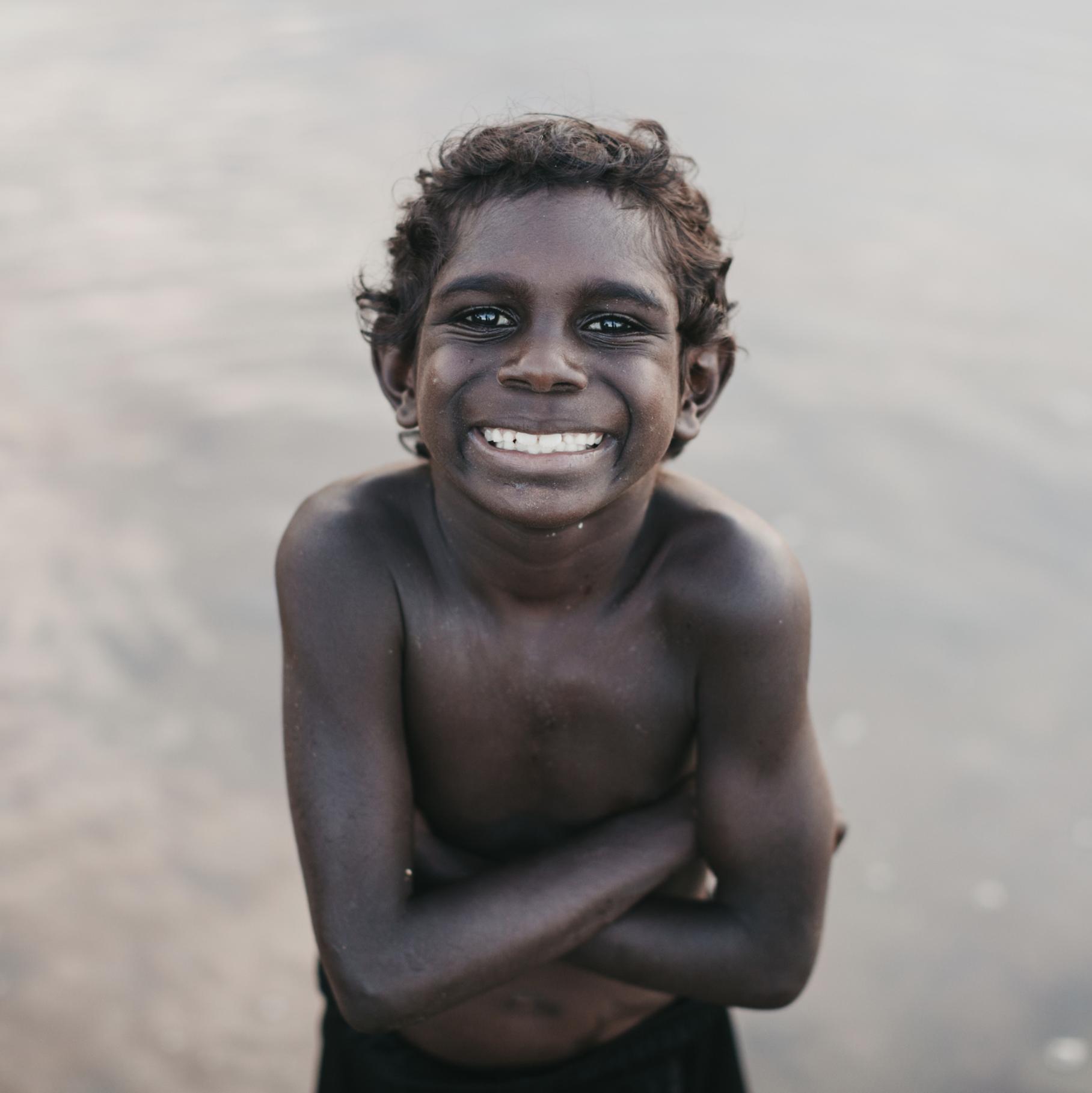 Young child smiling Jarrad Seng