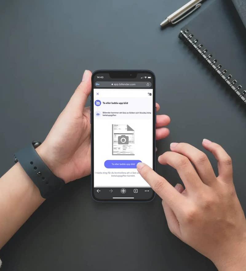 Billender webapp betala fakturor genom en bild