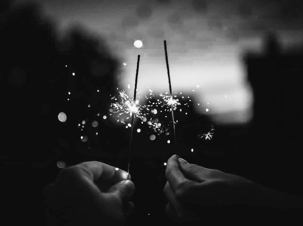couple fireworks