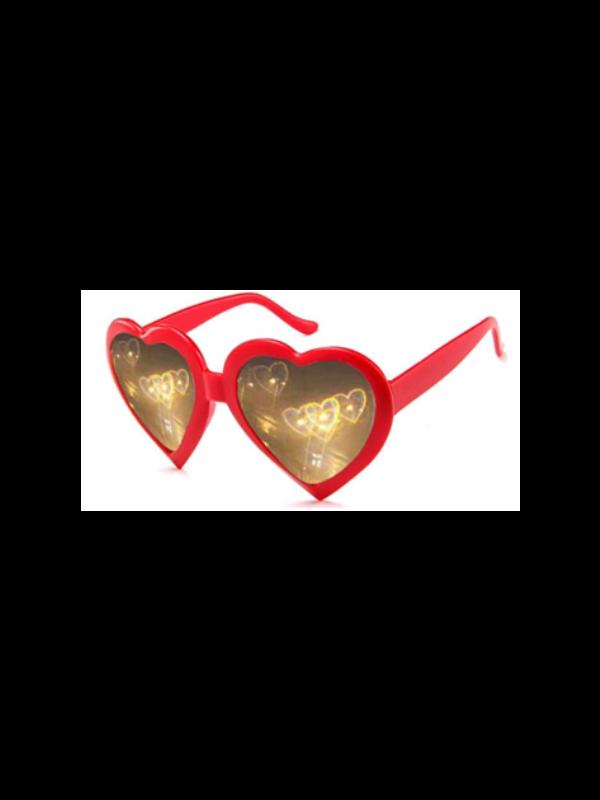 Heart Shape Diffractive Glasses