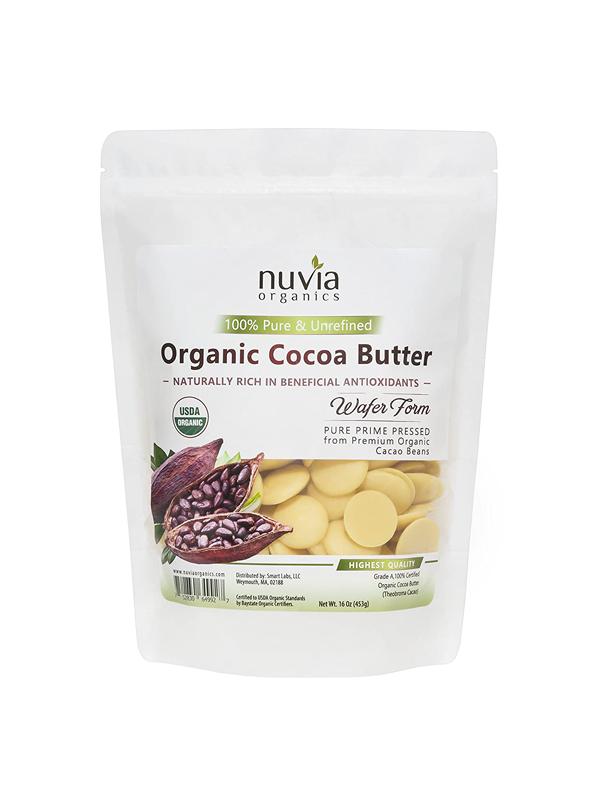 Pure Unrefined Raw Organic Cocoa Butter Wafers