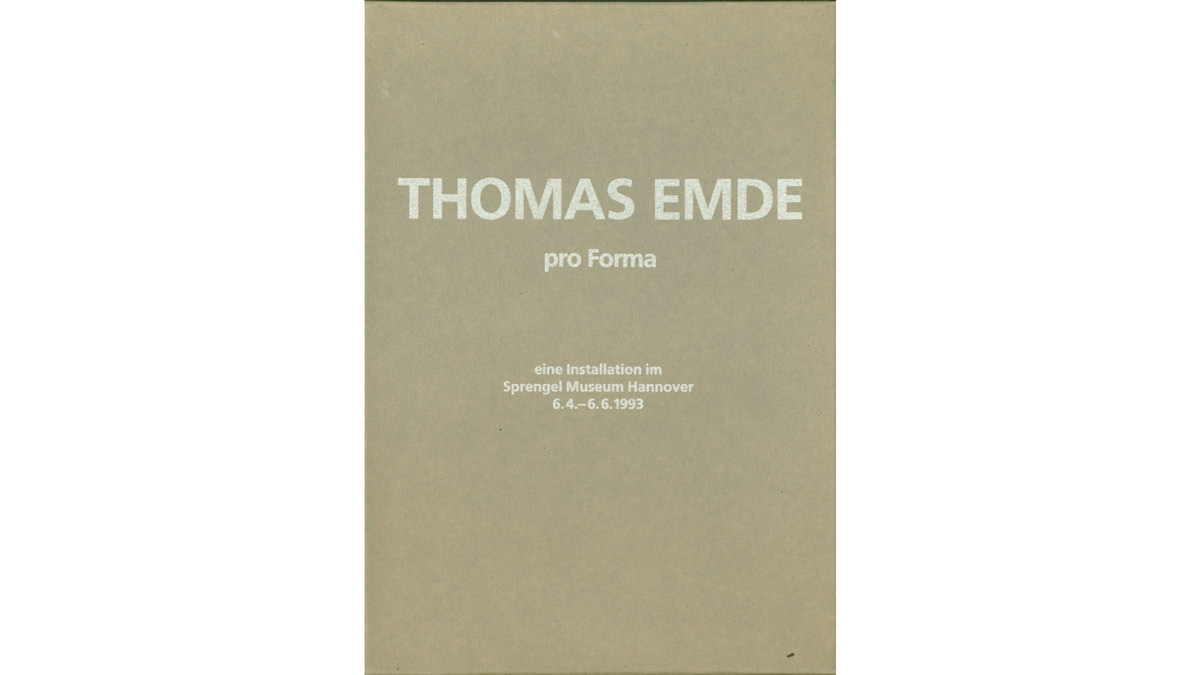 Thomas Emde, Pro Forma