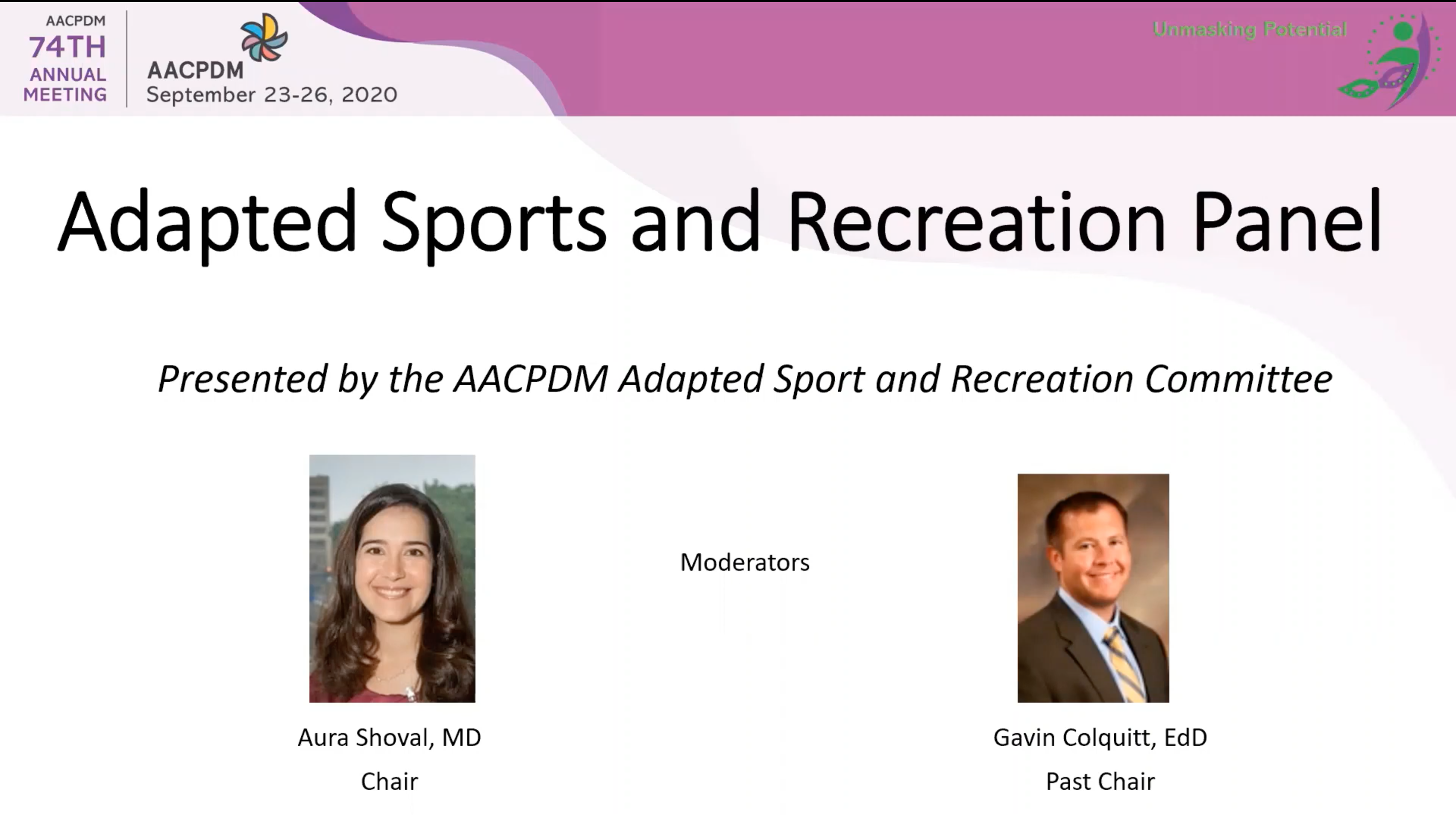2020 Community Forum - Adapted Sports and Recreation Panel