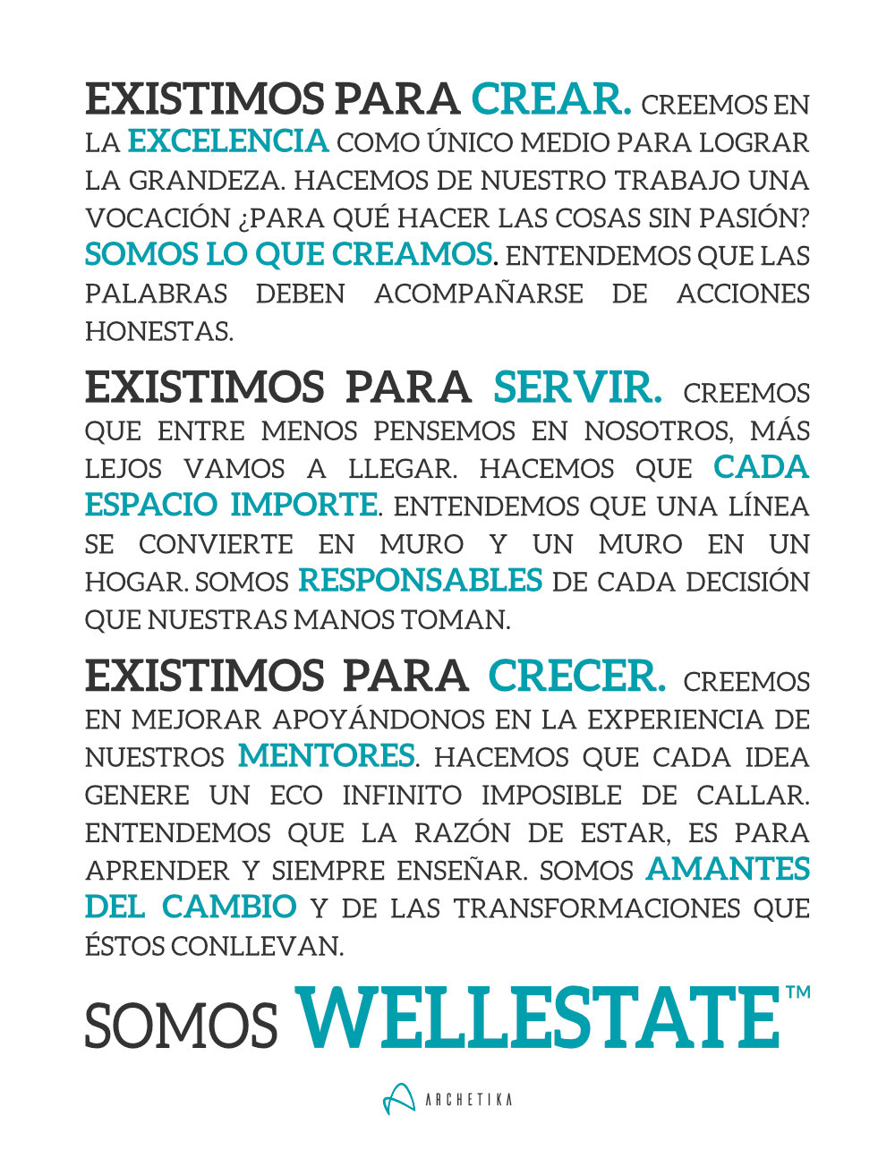 Wellestate™ Manifesto - © Archetika