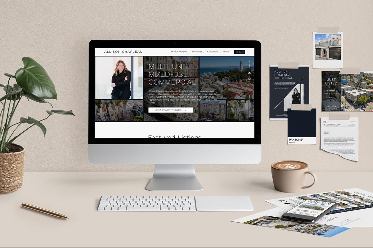 Desk Scene of Allison Chapleau brand and website