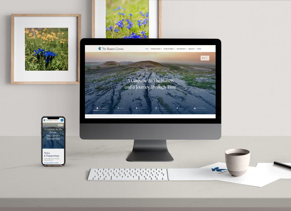 The Burren Centre Website Scene