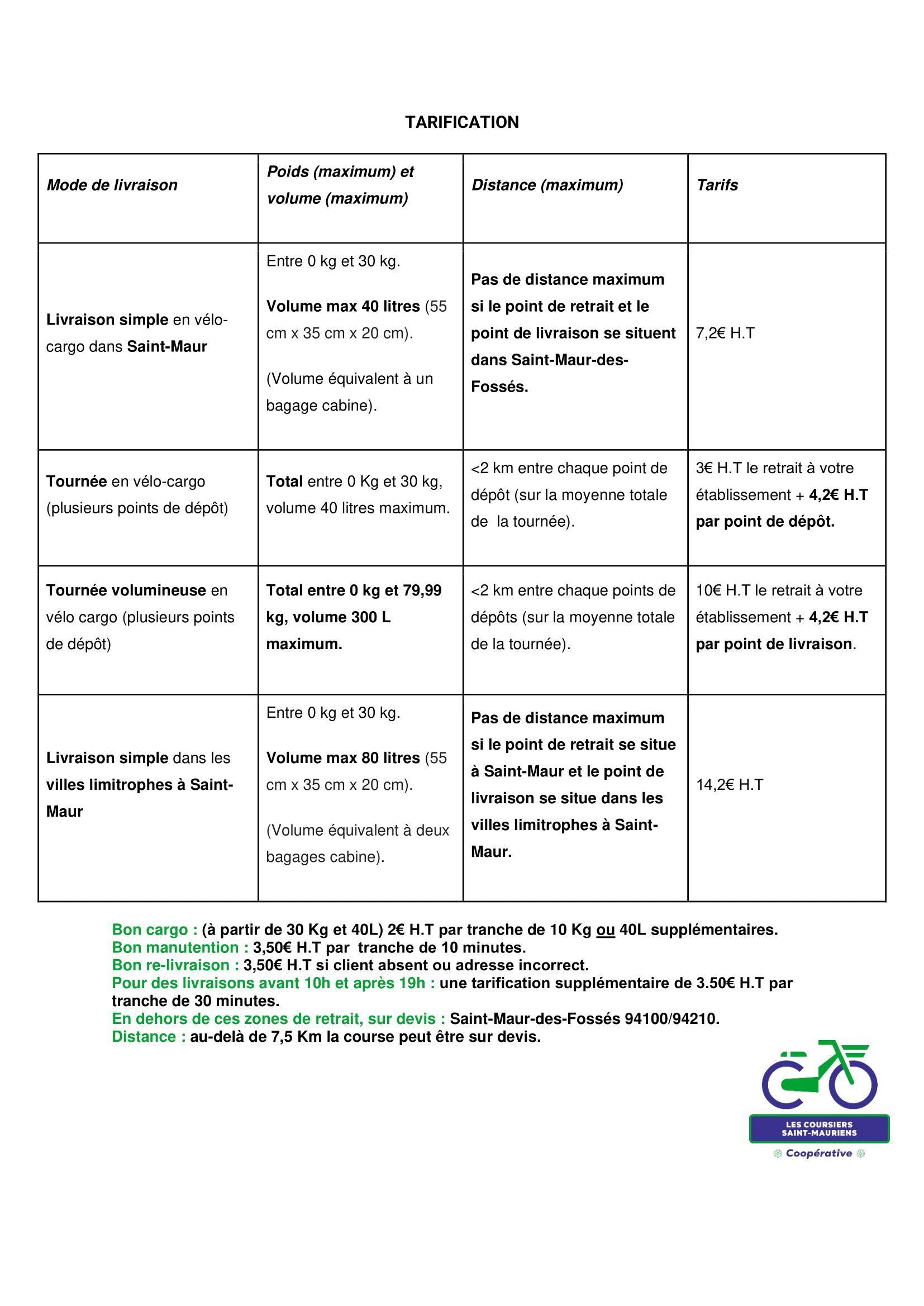 Tarification générique