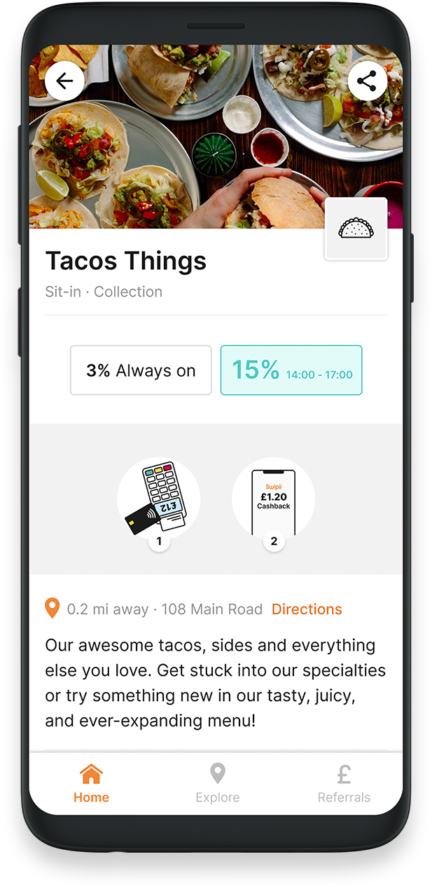 business profile app screen