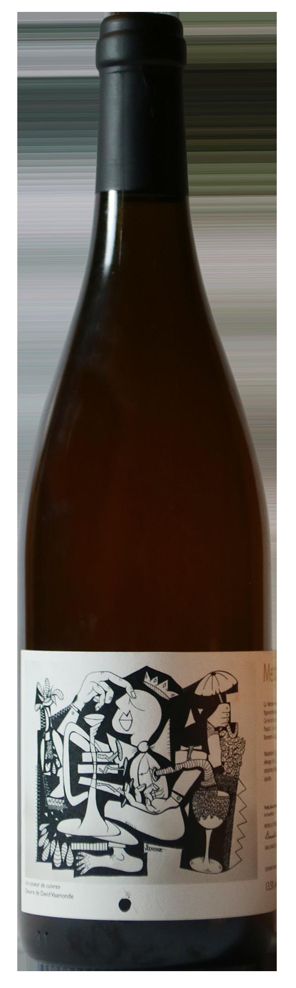 Bouteille de vin blanc naturel de macération, cuvée Metonymia 2019 Patricia et Rémi Bonneton