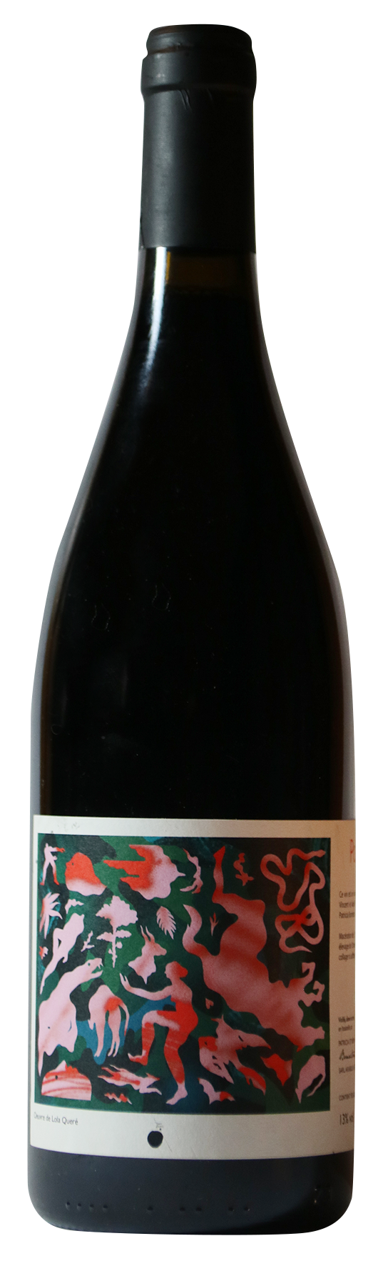 Bouteille de vin rouge naturel, cuvée Potion 2019, producteurs Patricia et Rémi Bonneton