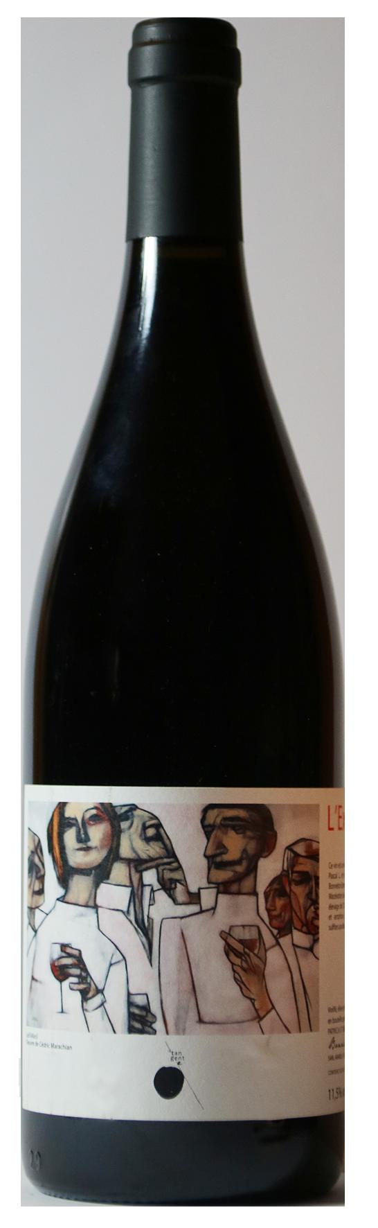 Bouteille de vin rouge naturel, cuvée L'excuse 2019, Producteurs Patricia et Rémi Bonneton