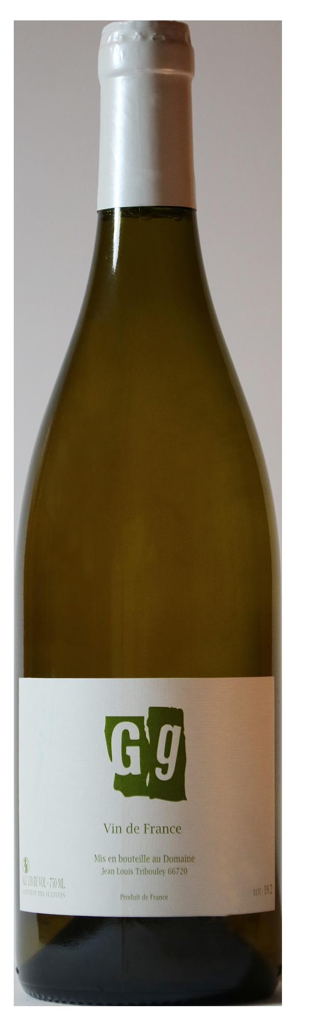 Bouteille de vin blanc naturel, cuvée G.G. , Domaine Jean Louis Tribouley