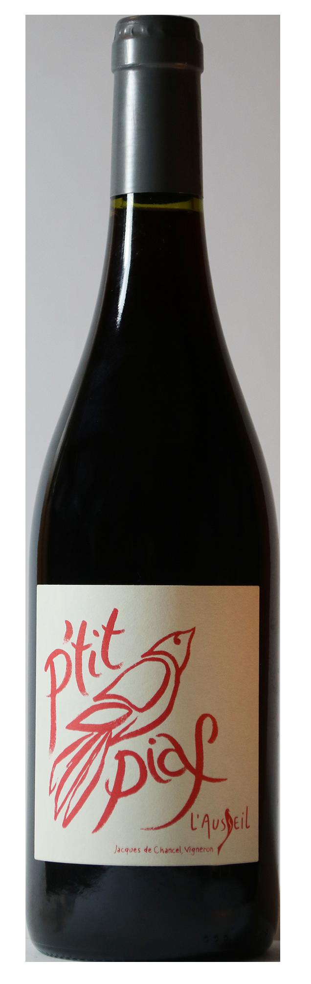 Bouteille de vin rouge naturel, cuvée P'tit Piaf 2019 Domaine de l'Ausseil