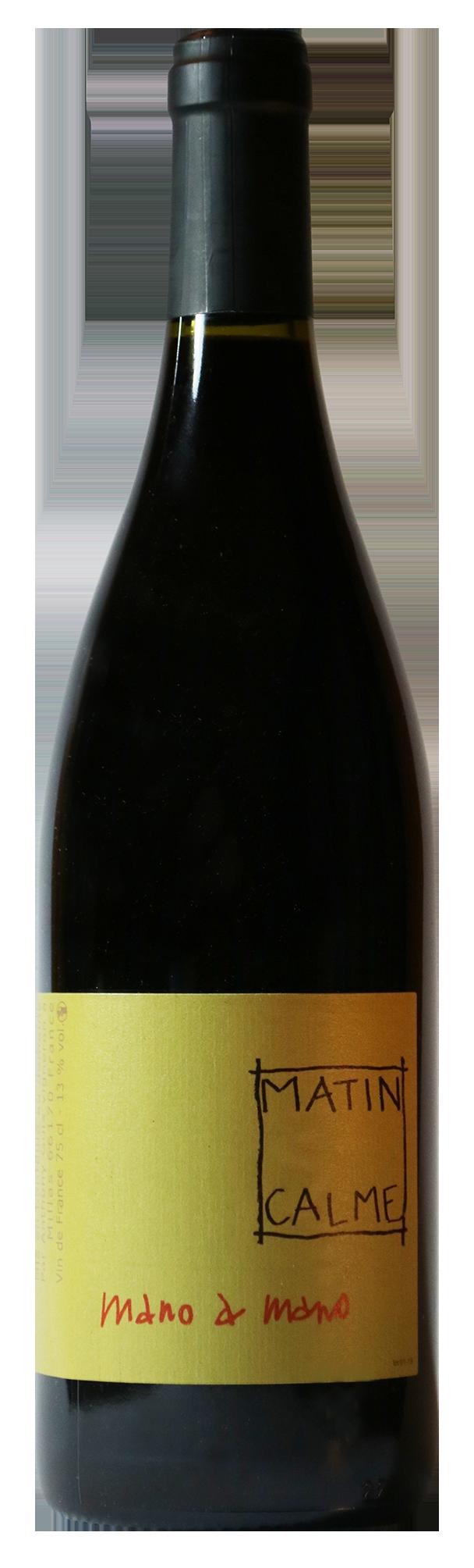 Bouteille de vin rouge naturel, cuvée Mano a Mano 2019 Domaine du Matin Calme