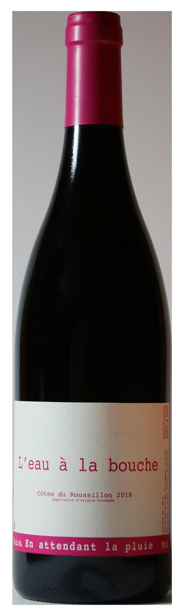 Bouteille de vin rouge naturel, cuvée L'eau à la Bouche 2019