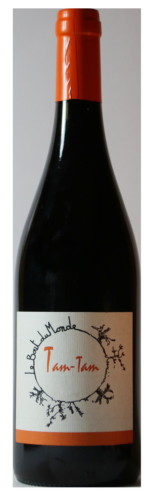 Bouteille de vin rouge naturel, cuvée Tam Tam 2019 Domaine du Bout du Monde