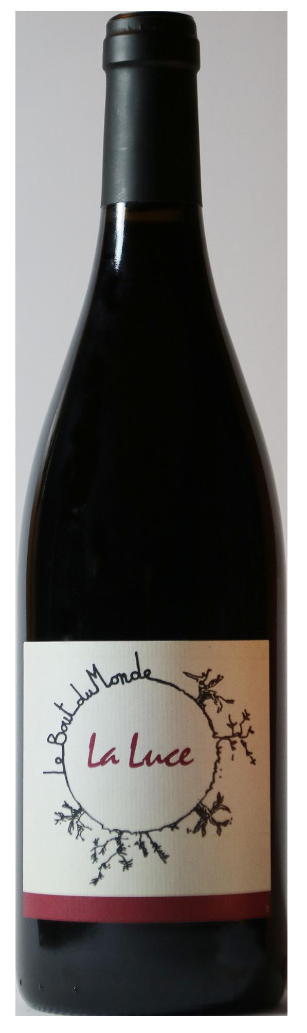 Bouteille de vin rouge naturel, La Luce 2016 Domaine du Bout du monde