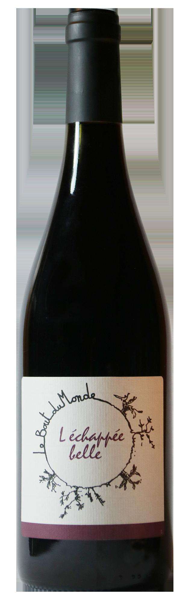Bouteille de vin rouge naturel, L'échappée Belle 2019 Domaine du Bout du Monde