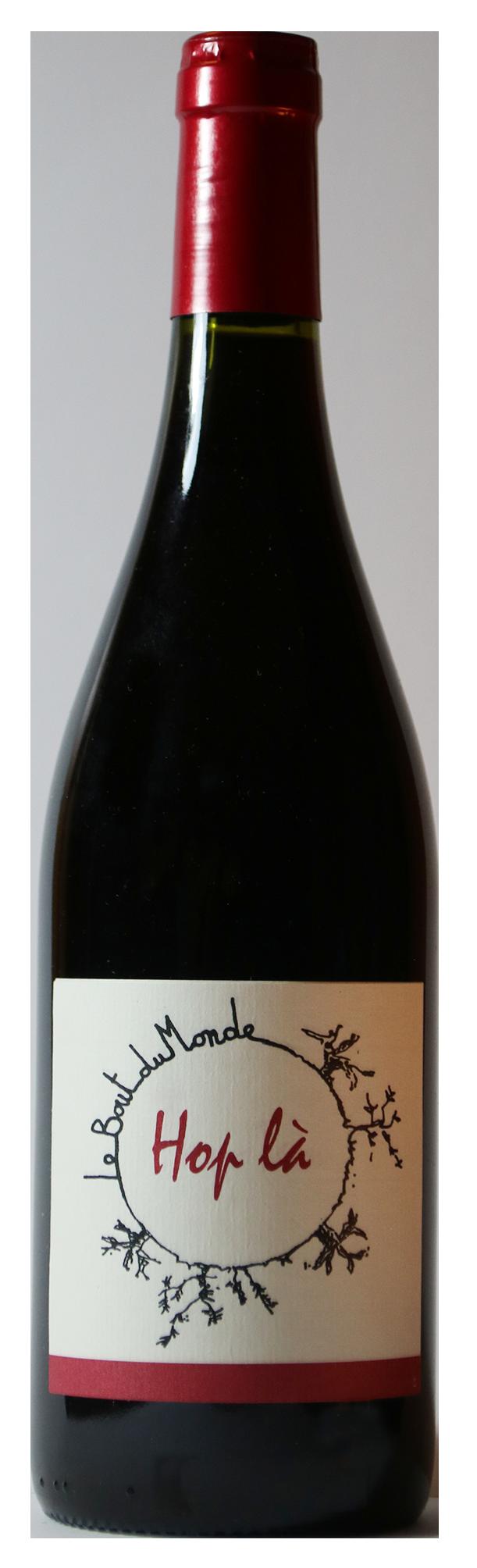 Bouteille de vin rouge naturel, cuvée Hop là 2018 Domaine du Bout du Monde