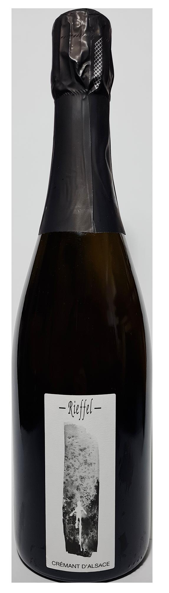 Bouteille de Crémant d'Alsace Extra-Brut non Dosé 2018 Domaine Rieffel