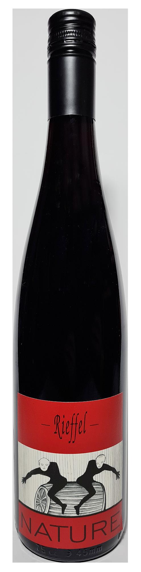 Bouteille de vin rouge naturel, Pinot Noir Nature 2019 Domaine Rieffel