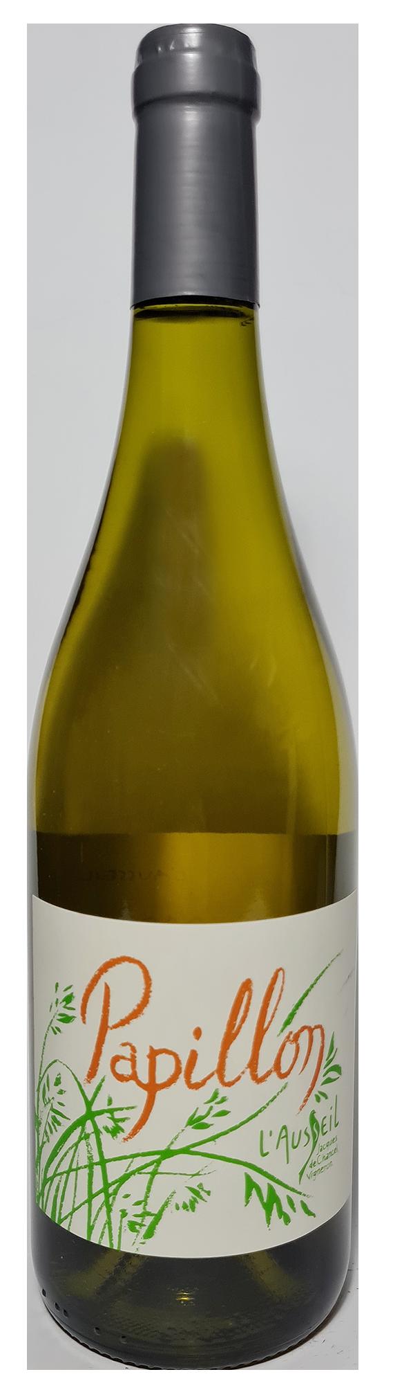 Bouteille de vin blanc naturel, Papillon 2017-2018 Domaine de l'Ausseil