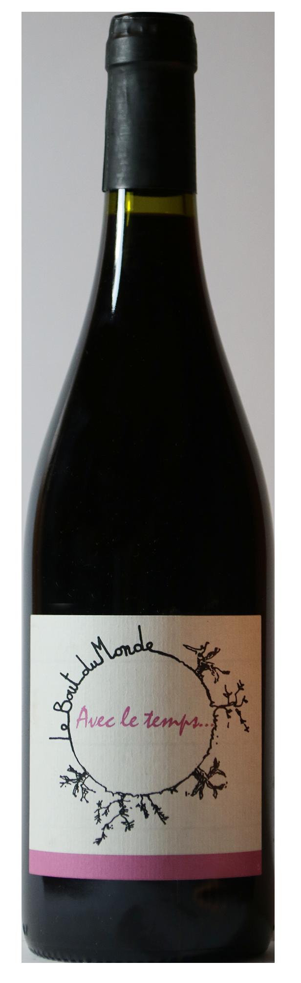 Bouteille de vin rouge naturel, Avec le Temps 2018 Domaine du Bout du Monde