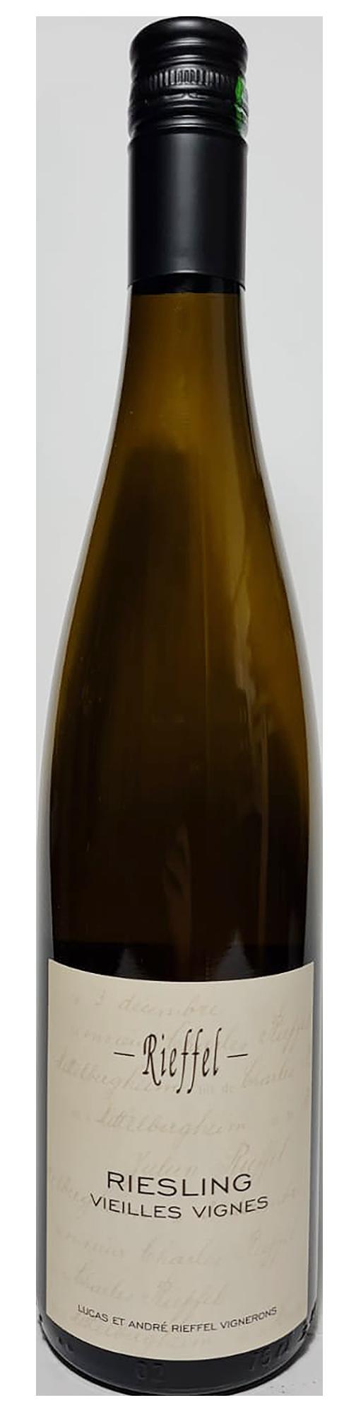 Bouteille de vin blanc d'Alsace, Riesling Vieilles Vignes 2018, Domaine Rieffel