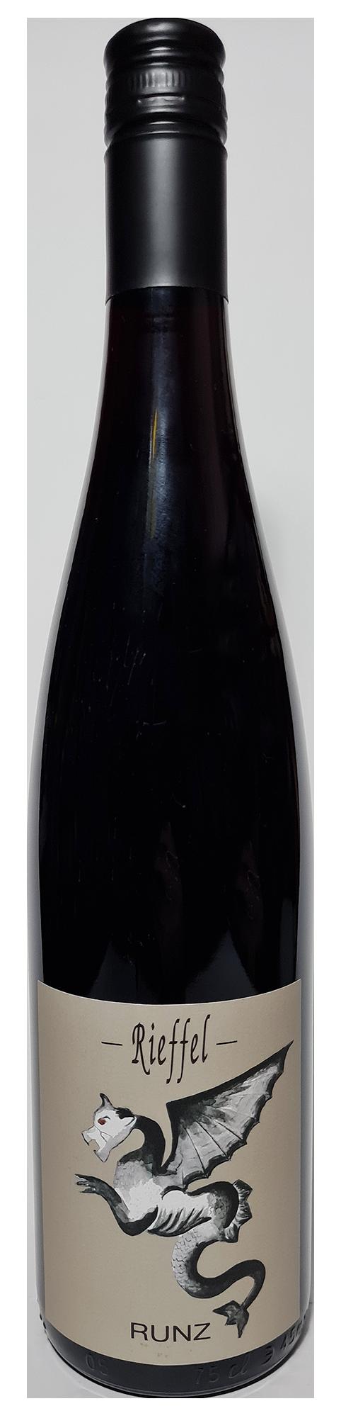 Bouteille de vin rouge Pinot Noir Runz 2019 Domaine Rieffel