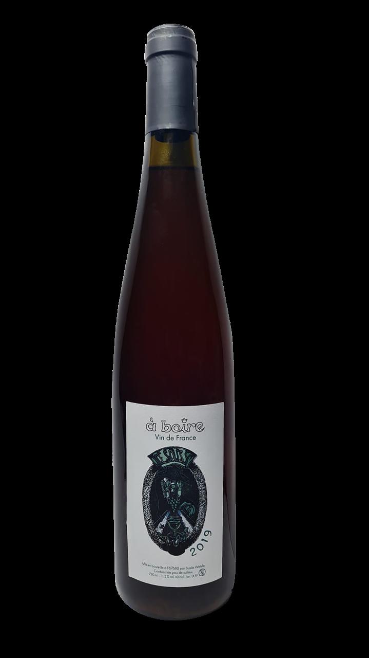 Bouteille de vin blanc de macération d'Alsace, domaine A Boire